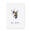 bloeikaart bee happy