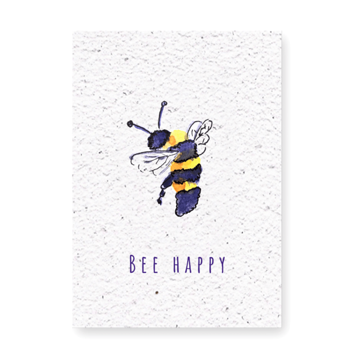 bloeikaart bee happy