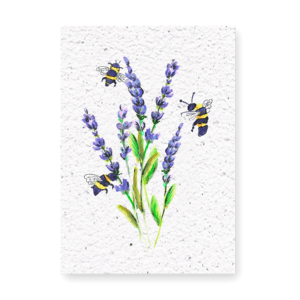 Lavendel + postzegel