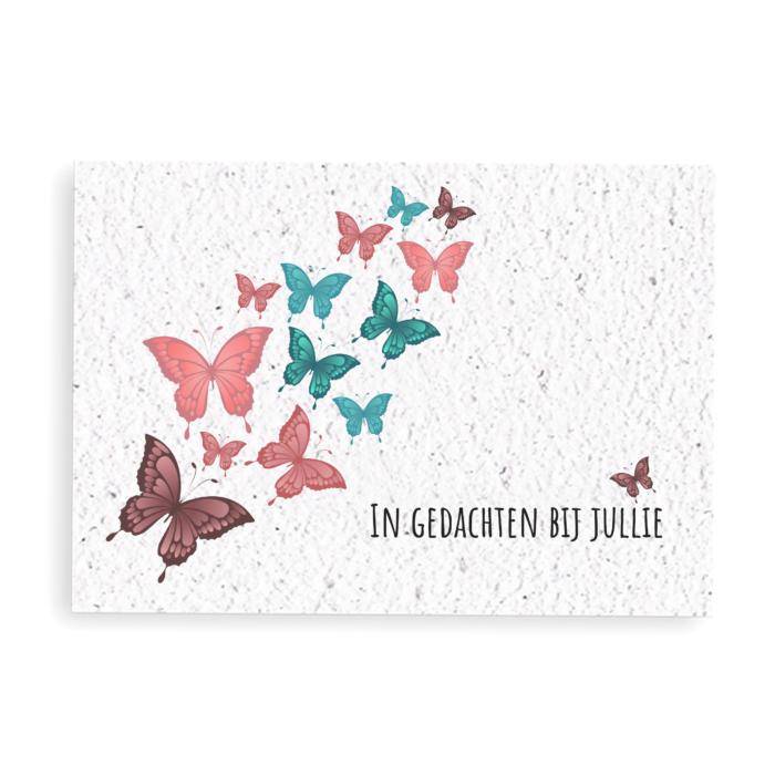 Groeikaart Condoleance vlinders