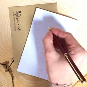 Schrijf zelf een kaartje