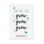 Groeikaart kerst grow