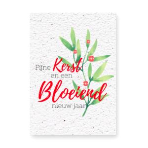 Fleurige kerst en een bloeiend Nieuwjaar