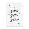kerstkaart groeipapier