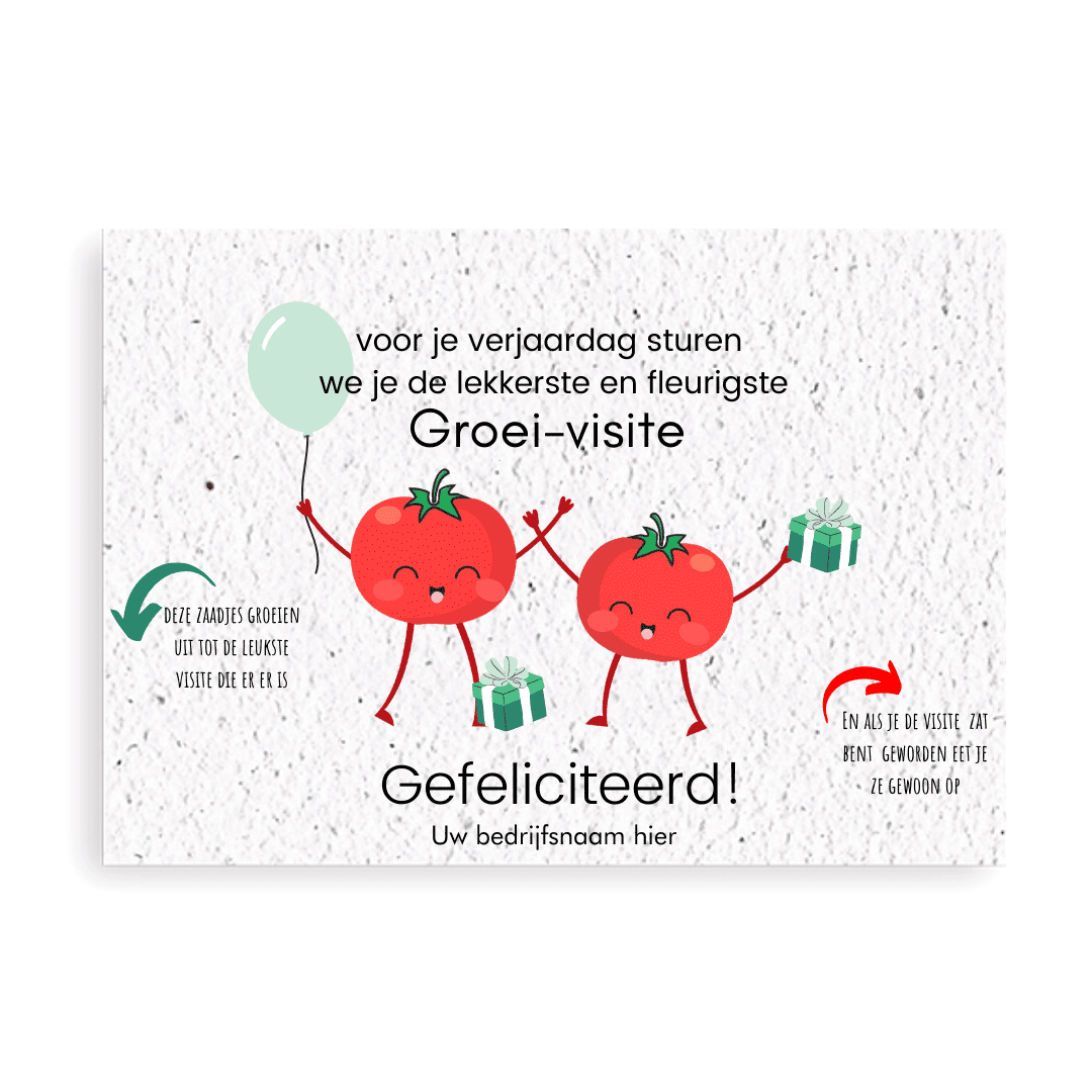 verjaardagskaart met zaadjes