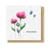 bloemen kaart groeipapier