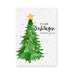 Kerstkaart zakelijk versturen Kerstboom